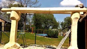 drevená hojdačka na záhradu príprava strechy časť 2 krovy hotové