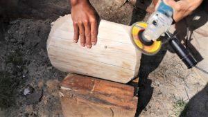podstavec drevenej sušičky , podstavec brúsenie